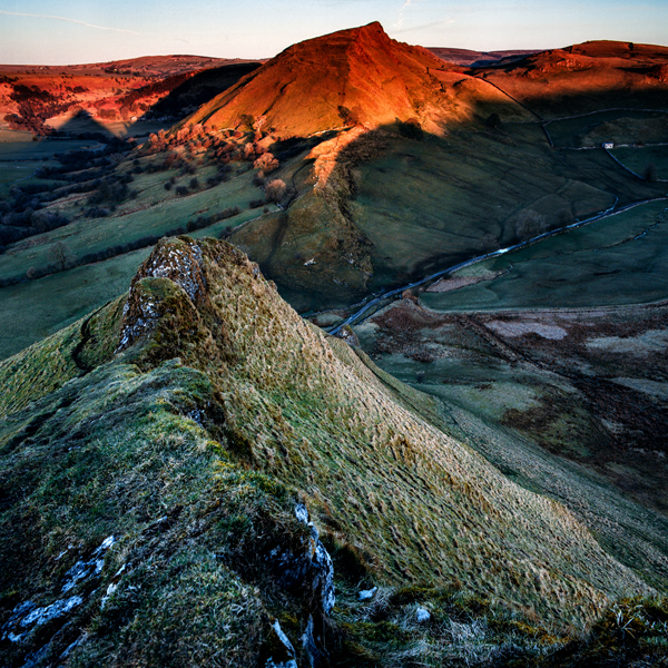 Chrome Hill from ParkHouse Hill morning, Peak District UK