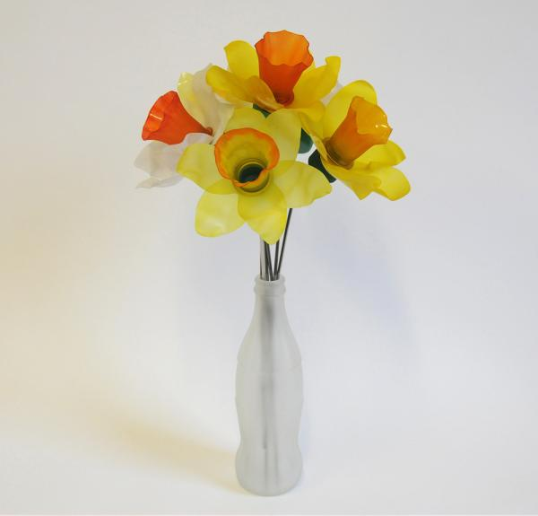 Plastic Bottle Daffodils