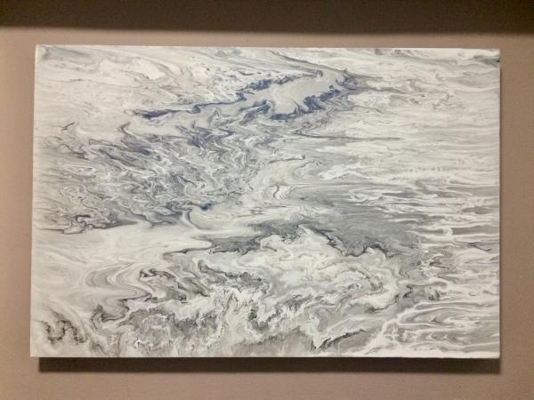 Laura's World of Arts Storm in Jupiter Large 76.2 x 50.8cm x 4cm Acrylic on Canvas