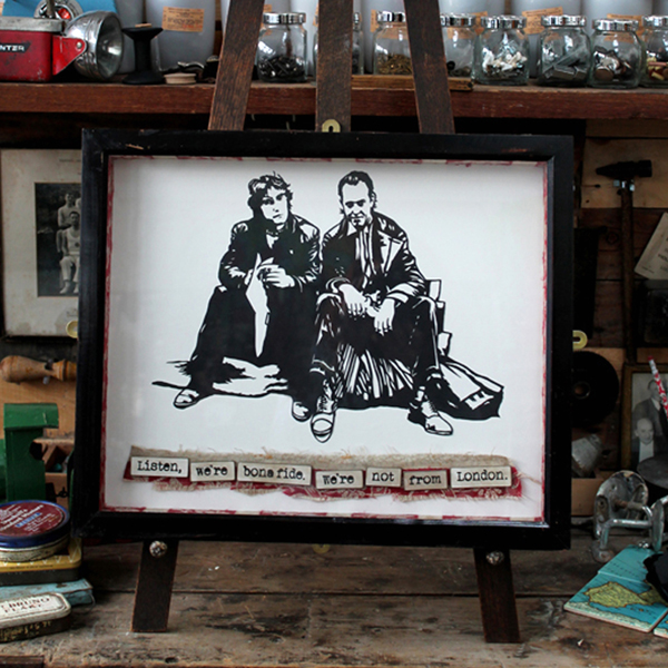 Sarah Manton - Withnail & I Papercut